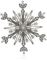 Judith Jack Swarovski Marcasite and Crystal Pave Snowflake Brooches and Pin