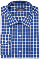 Club Room Men's Classic/Regular Fit Navy White Bold Windowpane Dress Shirt, Only at Macy's