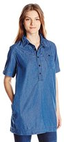 G Star Women's Raw Utility Short Sleeve One Pocket Long Bf Shirt