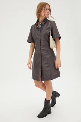 Just Female Fall Leather Mini Dress