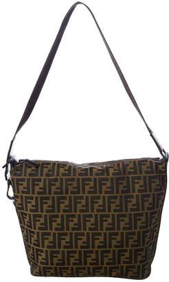 Fendi Brown Zucca Canvas Messenger Bag