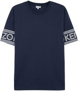 Kenzo Navy Logo-print Cotton Shirt