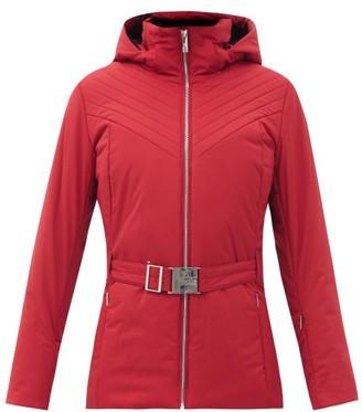 Fusalp Nanssil Hooded Belted Soft-shell Ski Jacket - Red