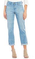 NYDJ Jessica Bandana Print Relaxed Boyfriend Jeans
