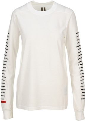 Rick Owens Logo Print Long-Sleeved T-Shirt