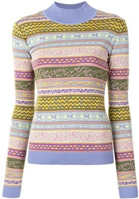 M Missoni Logo Pattern Jumper