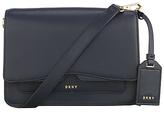 DKNY Bryant Park Saffiano Leather Flap Cross Body Bag, Navy