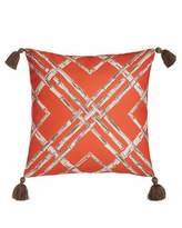 Lacefield Designs Melon Bamboo Outdoor Pillow with Tassels