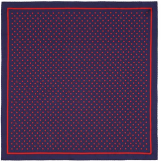 Gucci Polka dot and Double G silk scarf