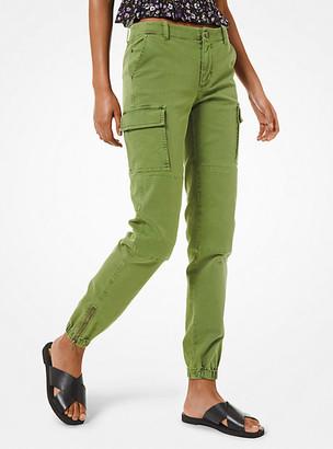 MICHAEL Michael Kors MK Denim Cargo Pants - Evergreen - Michael Kors