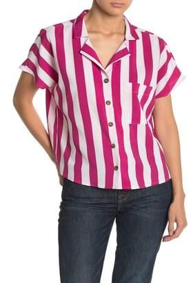 Love + Harmony Stripe Bowling Shirt