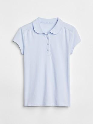 Gap Kids Uniform Peter Pan Short Sleeve Polo Shirt Shirt