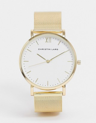 Christin Lars watch in gold with white dial