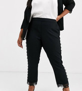 Junarose lace trim smart pants