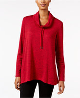 Style&Co. Style & Co. Melange Cowl-Neck Sweatshirt, Only at Macy's