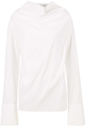 A Line Clothing Draped Neck Blouse