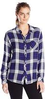 Rails Women's Hunter Long Sleeve Button Down Plaid Shirt