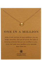 Dogeared 14K Gold Plated Sterling Silver One in a Million Necklace