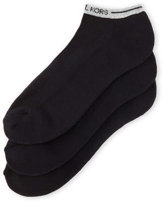 Michael Kors 3-Pack Combed Cotton Low-Cut Socks