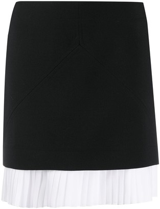 Courreges Pleated-Hem Short Skirt