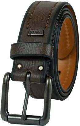 Levi's Men's 1 3/8-Inch Bridle Belt with Stitch Detailing