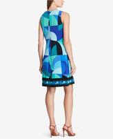 American Living Geo-Print A-Line Dress