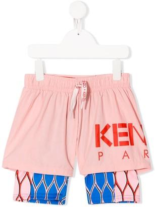 Kenzo Kids Logo Drawstring Shorts