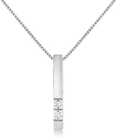 Forzieri 0.02 ct Diamond Bar Pendant Necklace