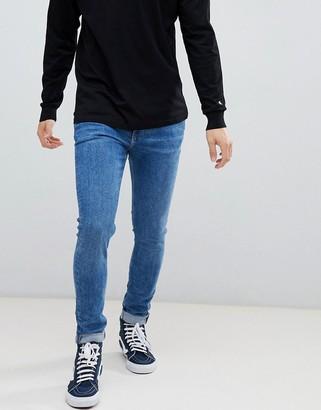 Weekday Form skinny jeans bleeker mid