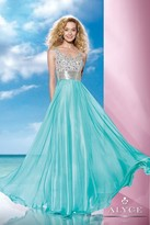 Alyce Paris B'Dazzle - 35599 Dress in Aqua