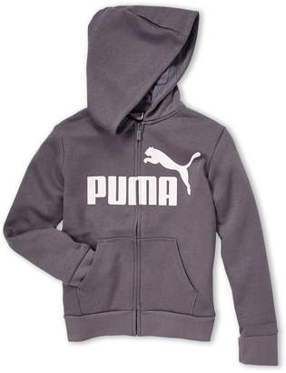 Puma Girls 7-16) Glitter Logo Fleece Zip-Up Hoodie