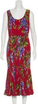 Dolce & Gabbana Wisteria Print Sleeveless Dress