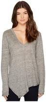 Heather Uma Linen Asymmetrical Long Sleeve Top Women's Clothing