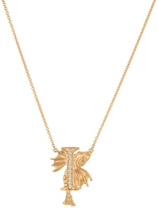 Stephen Webster Yellow Gold and Diamond Fish Tales I Necklace