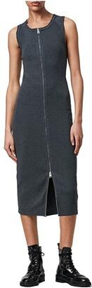 AllSaints Alicia Dress (Charcoal Grey) Women's Clothing