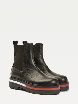 Tommy Hilfiger Platform Sole Flag Chelsea Boots