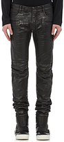 Balmain MEN'S COATED DENIM BIKER JEANS
