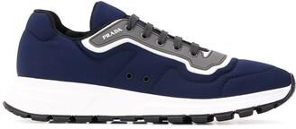 Prada Gabardine Fabric Low-Top Sneakers
