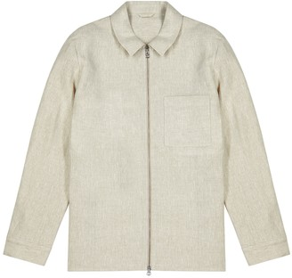 J. Lindeberg Jason sand linen jacket