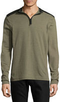Point Zero Mesh Trim Quarter-Zip Top