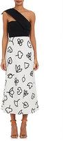 Narciso Rodriguez Women's Stretch-Silk Floral-Print Sheath Dress