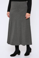 Yours Clothing Grey Marl Jersey Maxi Skirt With Panel Detail