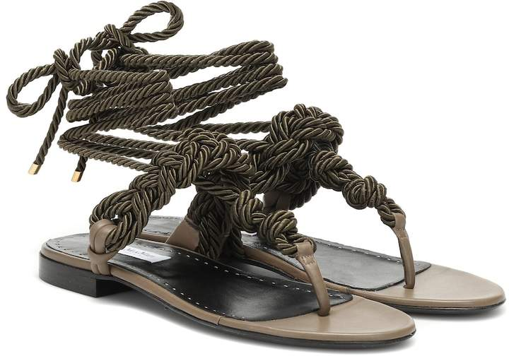 Max Mara Laila rope and leather sandals