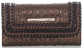 Brahmin Palermo Collection Crocodile-Embossed Whip-Stitched Soft Checkbook Wallet