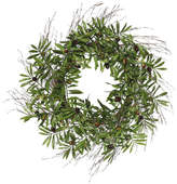 "Vickerman 24"" Green Olive Leaf Wreath"