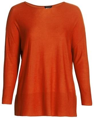 Marina Rinaldi, Plus Size Ambra Virgin Wool-Blend Tunic