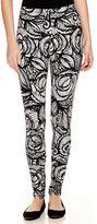 MIXIT Mixit Black and White Print Knit Leggings