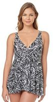 Croft & Barrow Women's Tummy Slimmer Printed Swimdress