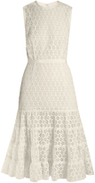 Giambattista Valli Sleeveless cotton-blend macramé-lace dress