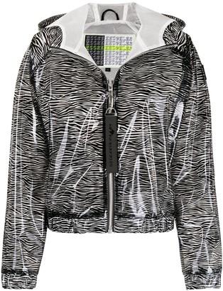 Moose Knuckles Transparent Zebra Print Jacket